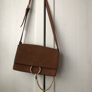 Forever 21 Brown Purse With Gold Ring